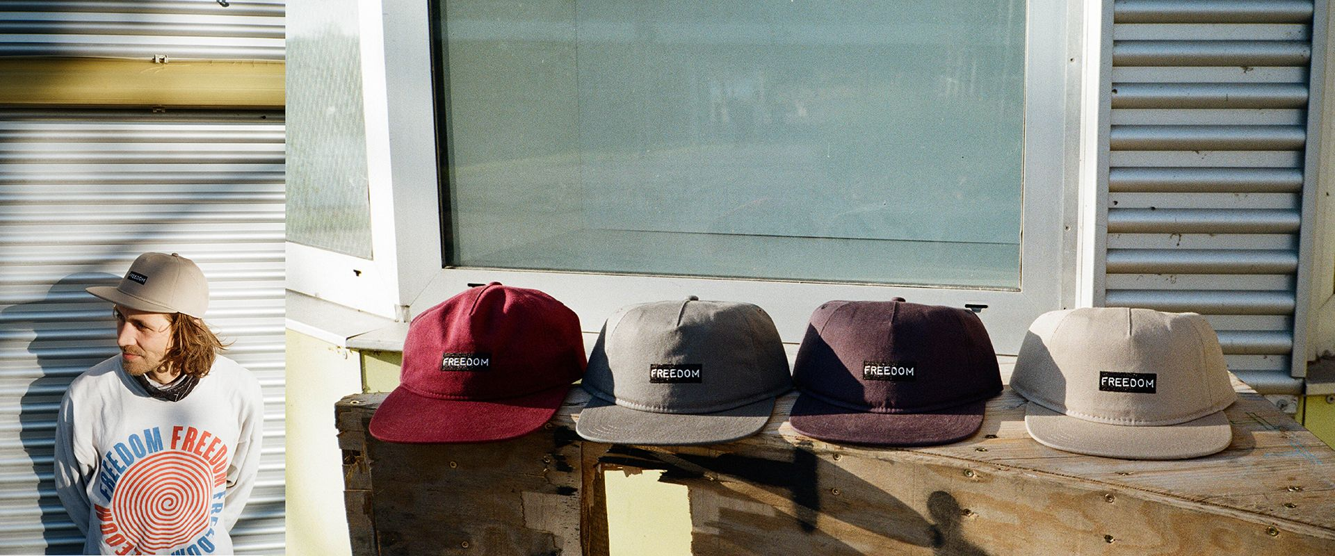 Freedom Skateshop Label Embroidered Caps
